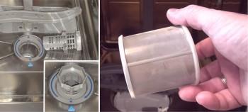 Посудомоечная машина стала плохо мыть, не нагревает воду, не дорабатывает цикл. Ошибка E . Способы ремонта - Чистка-сетчатого-фильтра.jpg