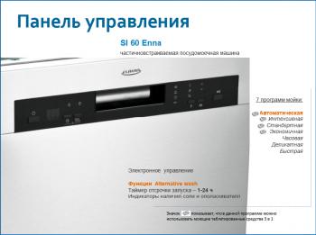 Частичновстраиваемая посудомоечная машина Enna со съемным фасадом - Энна.PNG