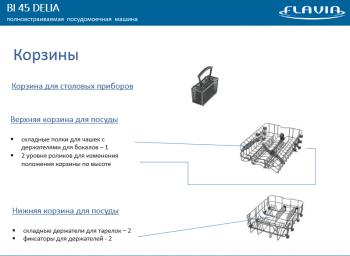Новинки: компактная встраиваемая посудомойка Flavia Bi 45 Delia и полновстраиваемая Bi 60 Delia - баскет.PNG